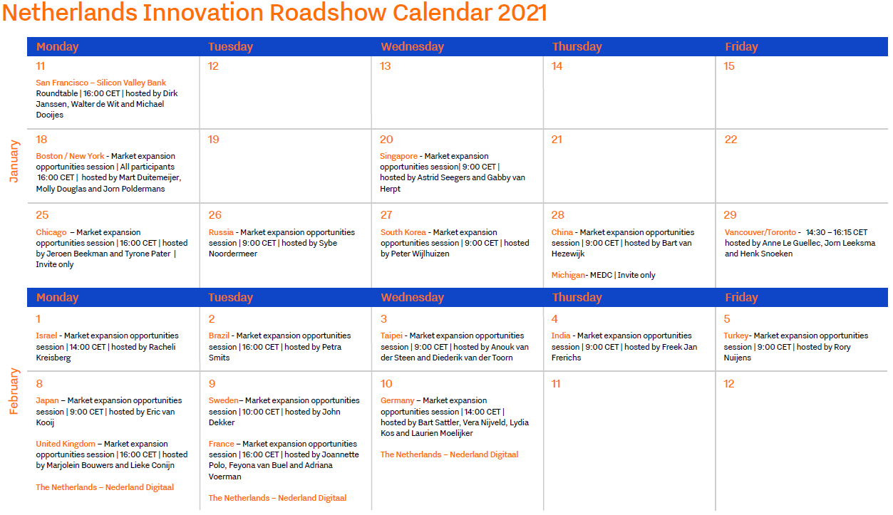Calender Innovation Roadshow